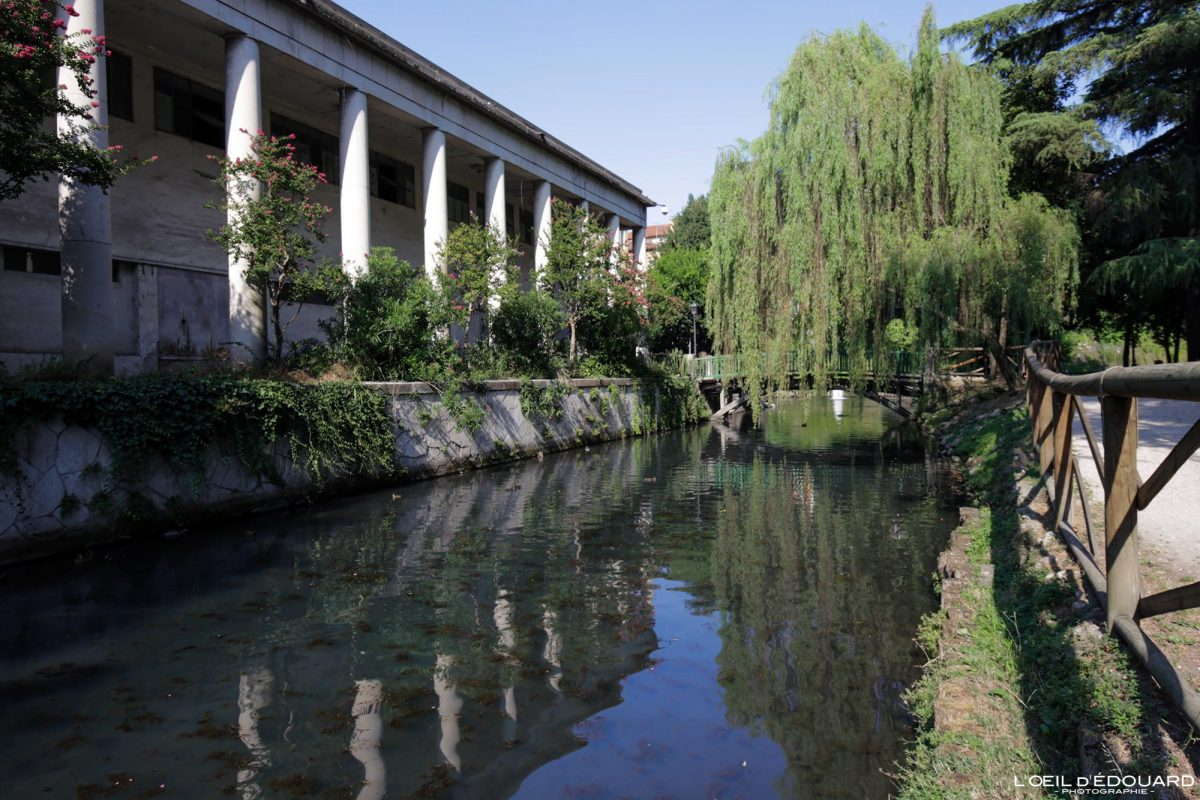 canal Jardin Querini Vicence Italie Vénétie - Giardini Querini di Vicenza Italia Veneto Italy garden park river
