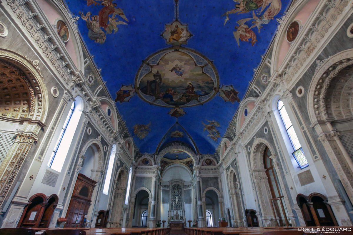 Plafond Eglise de Vicence Italie Vénétie - Chiesa Parrocchia di Santa Croce ai Carmini di Vicenza Italia Veneto Italy church