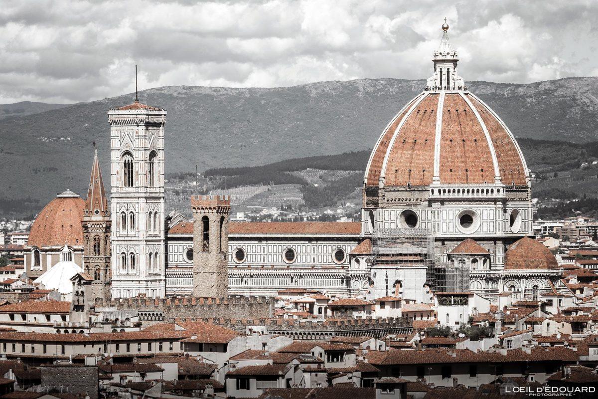 Cathédrale de Florence Toscane Italie : Coupole de Brunelleschi architecture Renaissance - Cattedrale di Santa Maria del Fiore Duomo Firenze Toscana Italia city view Tuscany Italy church