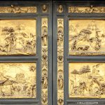 Bas-reliefs Porte du Paradis Filippo Brunelleschi Baptistère de Saint-Jean Florence Toscane Italie - Porta del Paradiso Battistero di San Giovanni Firenze Toscana Italia city Tuscany Italy Heaven door sculpture art Renaissance