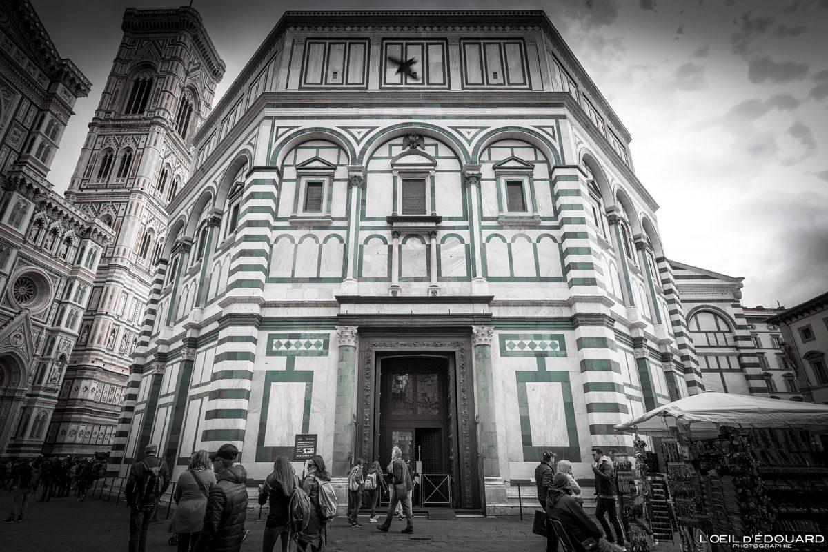 Baptistère de Saint-Jean Florence Toscane Italie : architecture Renaissance - Battistero di San Giovanni Duomo Firenze Toscana Italia city Tuscany Italy church