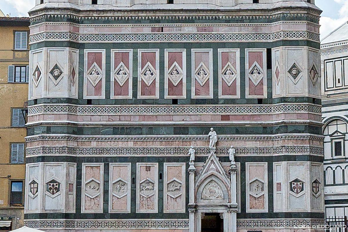Bas-reliefs Campanile de Giotto Cathédrale de Florence Toscane Italie - Torre Duomo Firenze Toscana Italia Tuscany Italy tower architecture Renaissance