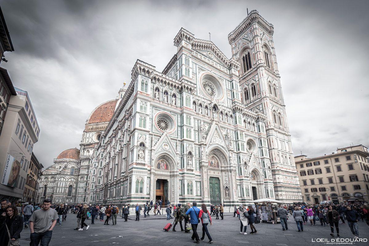 Façade Cathédrale de Florence Toscane Italie - Cattedrale di Santa Maria del Fiore Duomo Firenze Toscana Italia Tuscany Italy church architecture Renaissance