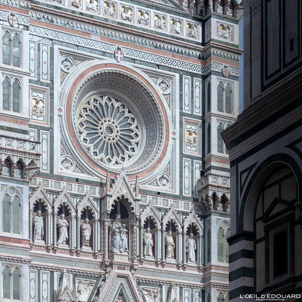 Rosace Façade Cathédrale de Florence Toscane Italie - Cattedrale di Santa Maria del Fiore Duomo Firenze Toscana Italia Tuscany Italy church architecture Renaissance