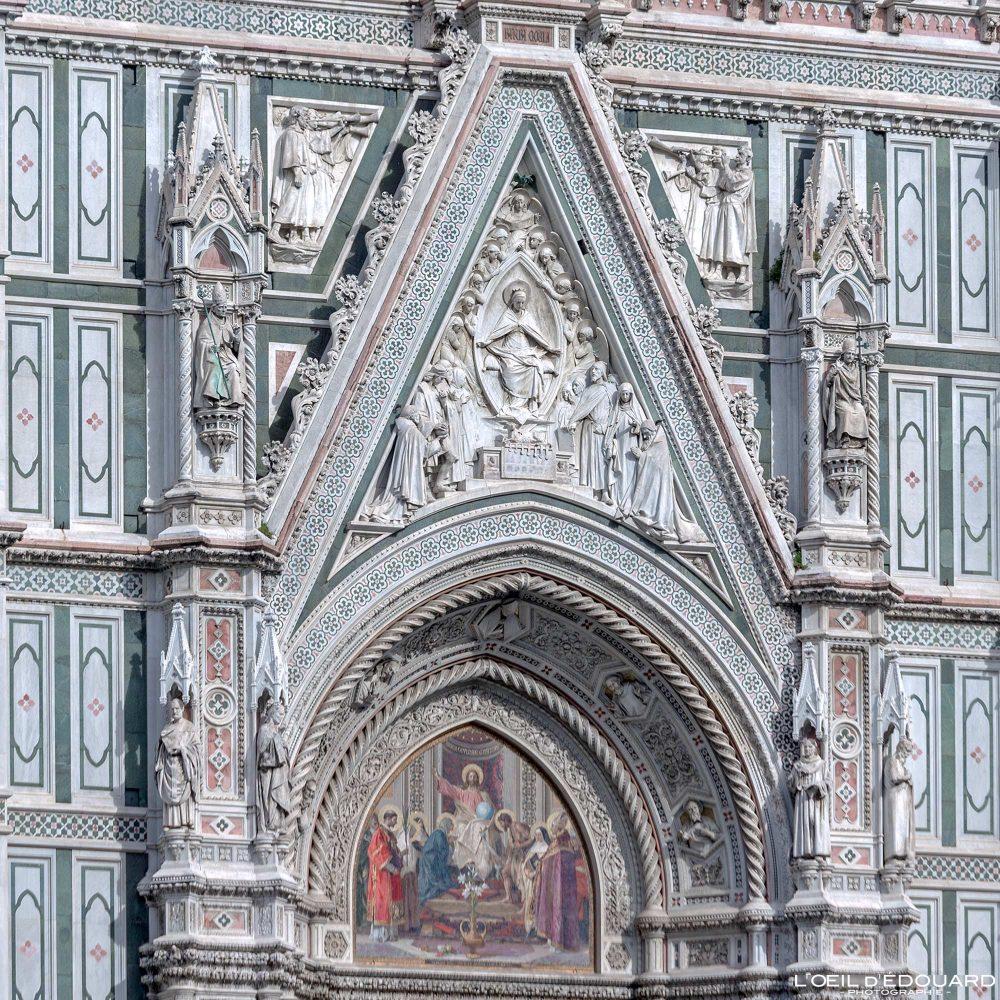 Sculptures Façade Cathédrale de Florence Toscane Italie - Cattedrale di Santa Maria del Fiore Duomo Firenze Toscana Italia Tuscany Italy church architecture Renaissance