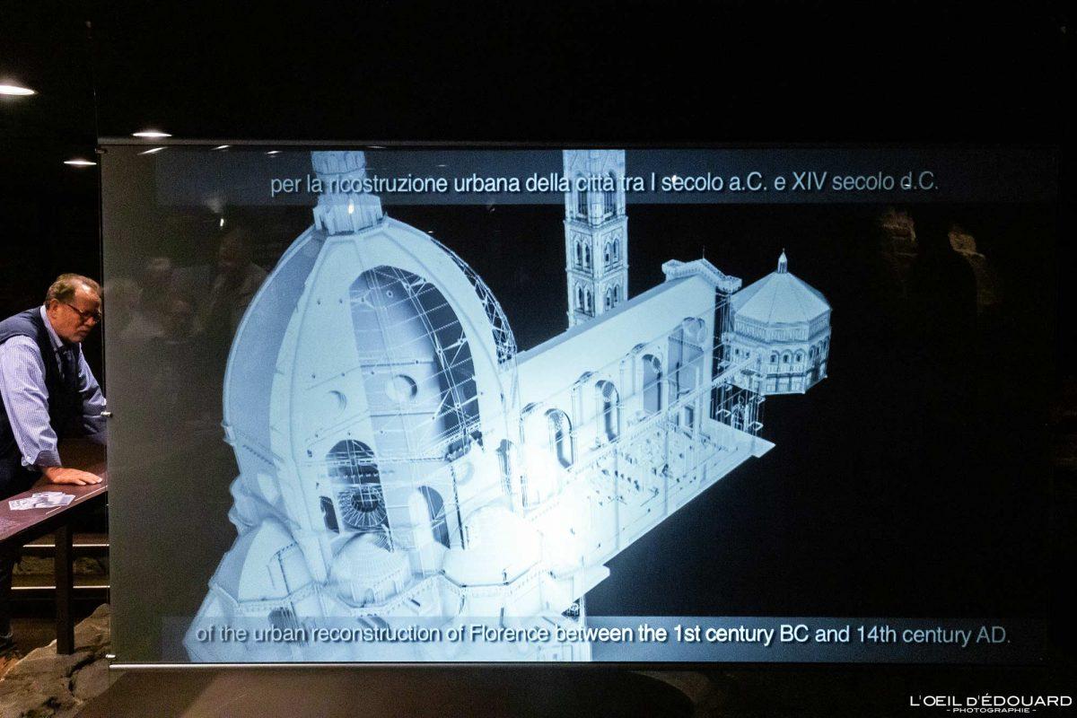 Vidéo documentaire Crypte Cathédrale de Florence Toscane Italie - Cripta Santa Reparata Cattedrale di Santa Maria del Fiore Duomo Firenze Toscana Italia Tuscany Italy church architecture
