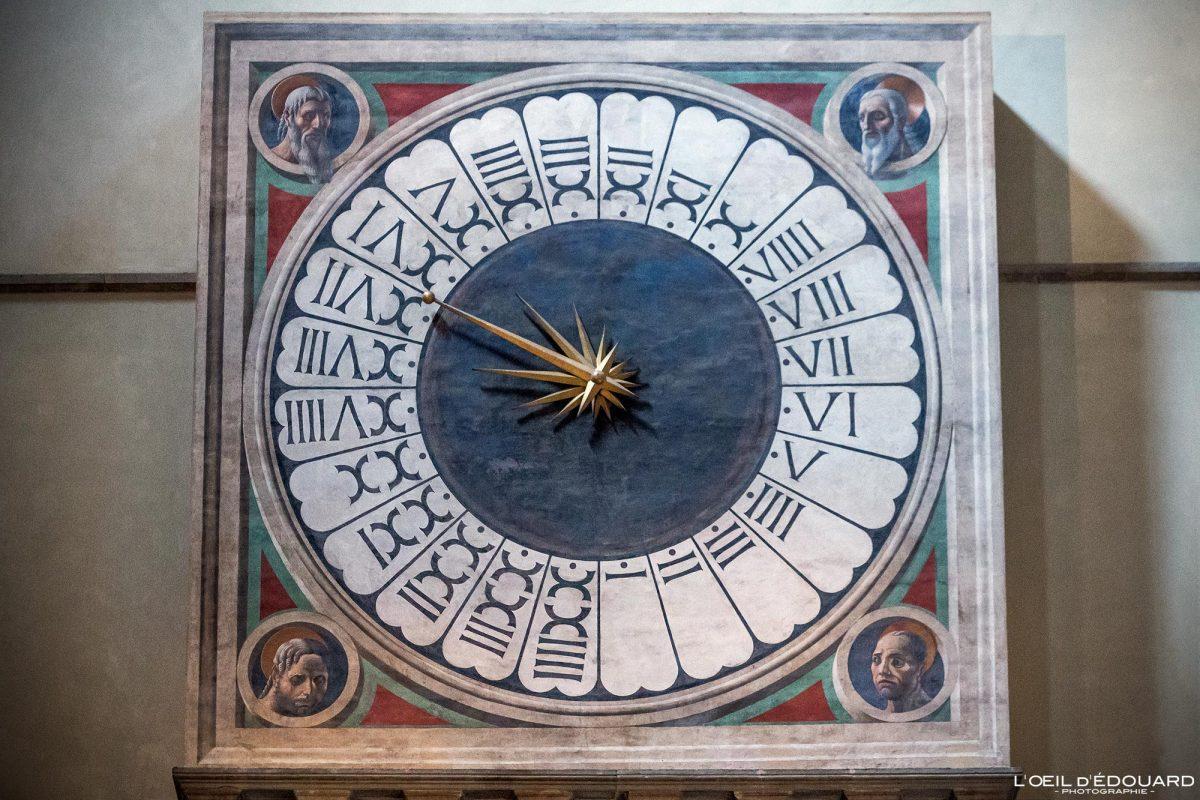 Horloge Paolo Uccello contre-façade nef intérieur Cathédrale de Florence Toscane Italie - Orologio Cattedrale di Santa Maria del Fiore Duomo Firenze Toscana Italia Tuscany Italy architecture church clock art Renaissance