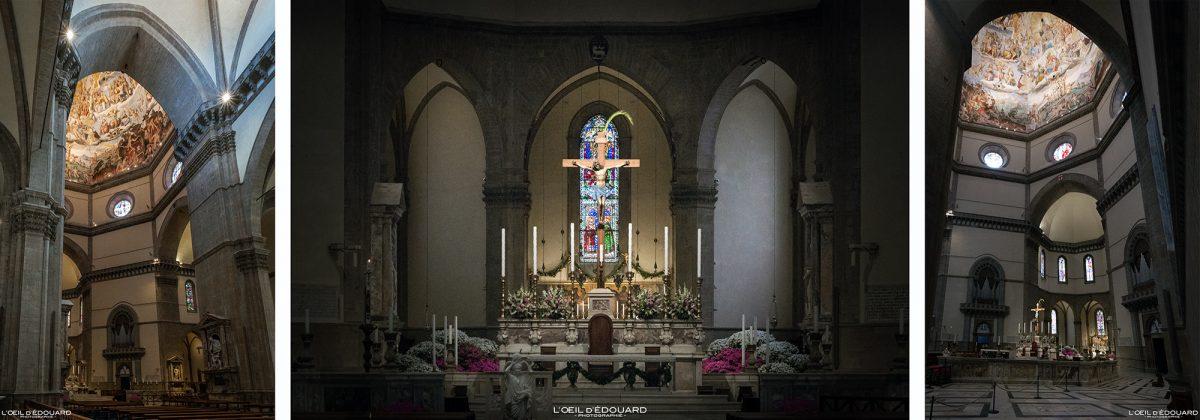 Chœur et Autel intérieur Cathédrale de Florence Toscane Italie - Cattedrale di Santa Maria del Fiore Duomo Firenze Toscana Italia Tuscany Italy church architecture