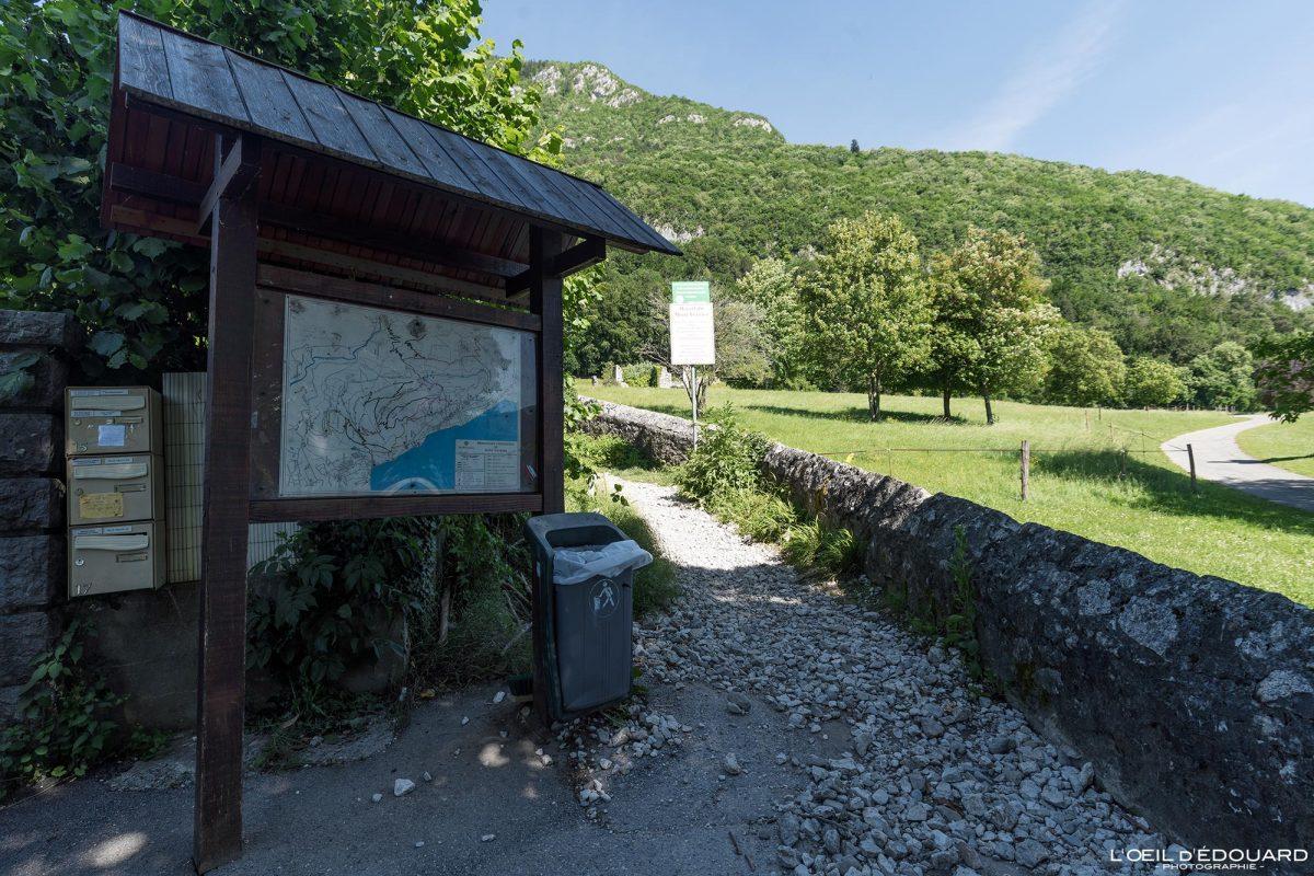 Départ randonnée Mont Veyrier - Le Bois Jettaz Le Petit Port Annecy-le-vieux Haute-Savoie Alpes France