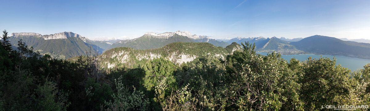 Mont Baron - Point de vue panorama Mont Baron - Randonnée Mont Veyrier - Annecy Haute-Savoie Alpes France Paysage Montagne - Mountain Landscape French Alps Outdoor Hike Hiking panoramic view