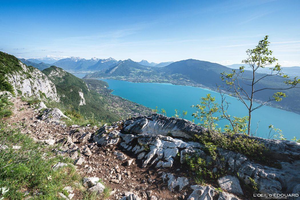 Randonnée Sentier des Crêtes du Mont Veyrier - Vue sur le Lac d'Annecy Haute-Savoie Alpes France Paysage Montagne - Mountain Landscape French Alps Outdoor Hike Hiking view lake
