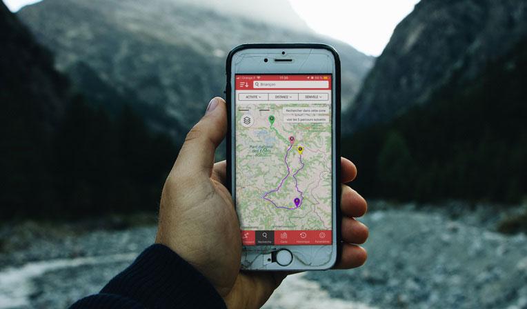 Smartphone Application Openrunner Outdoor app