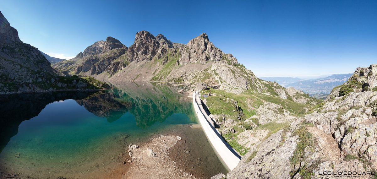 Barrage du Lac du Crozet Belledonne Isère Alpes France Paysage Montagne Outdoor French Alps Lake Mountain Landscape