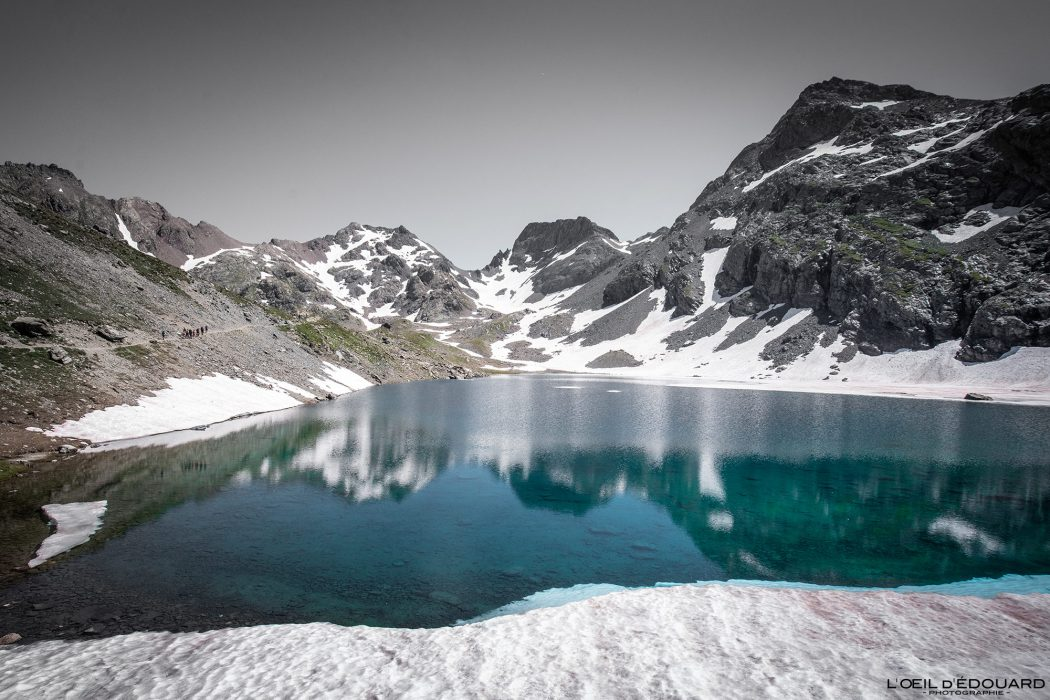 Randonnée Lac du Grand Domènon Belledonne Isère Alpes France Paysage Montagne Outdoor hike hiking French Alps Lake Mountain Landscape