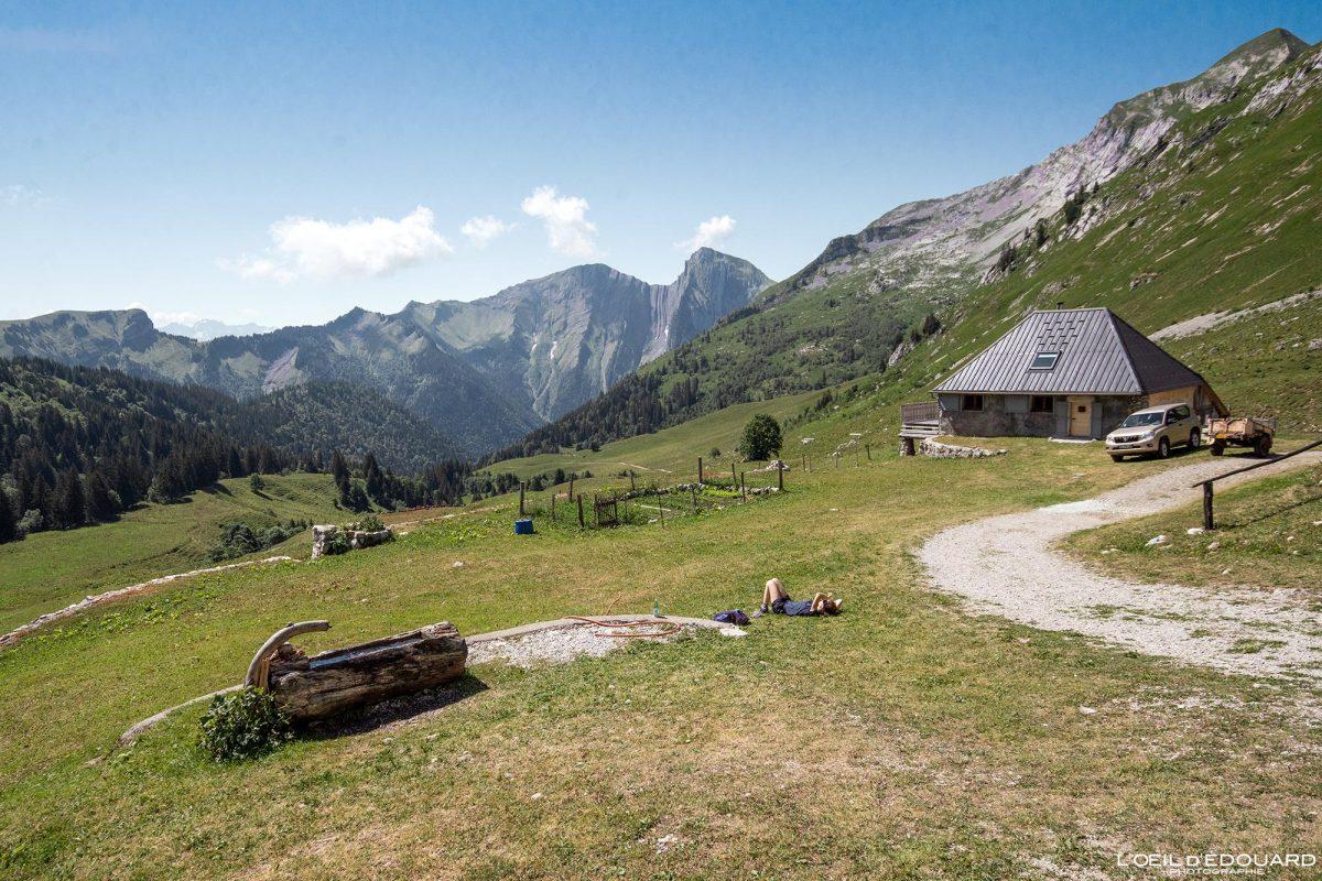 Les Chalets d'Orgeval Massif des Bauges Savoie Alpes France Paysage Montagne Pécloz - House Mountain Landscape French Alps Outdoor Hike Hiking