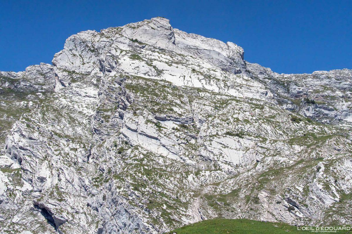 Face Est Arcalod Massif des Bauges Savoie Alpes France Paysage Montagne - Mountain Summit French Alps Outdoor