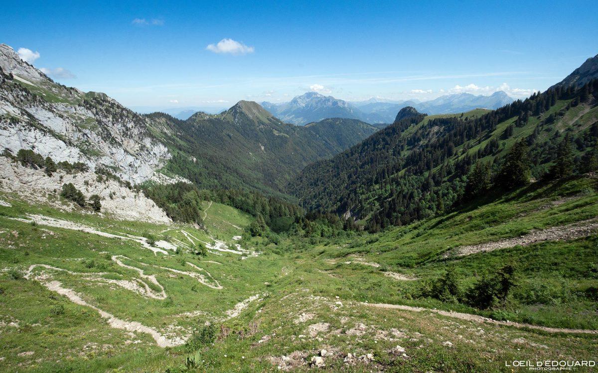 Col d'Orgeval Massif des Bauges Savoie Alpes France Paysage Montagne Randonnée - Mountain Landscape French Alps Outdoor