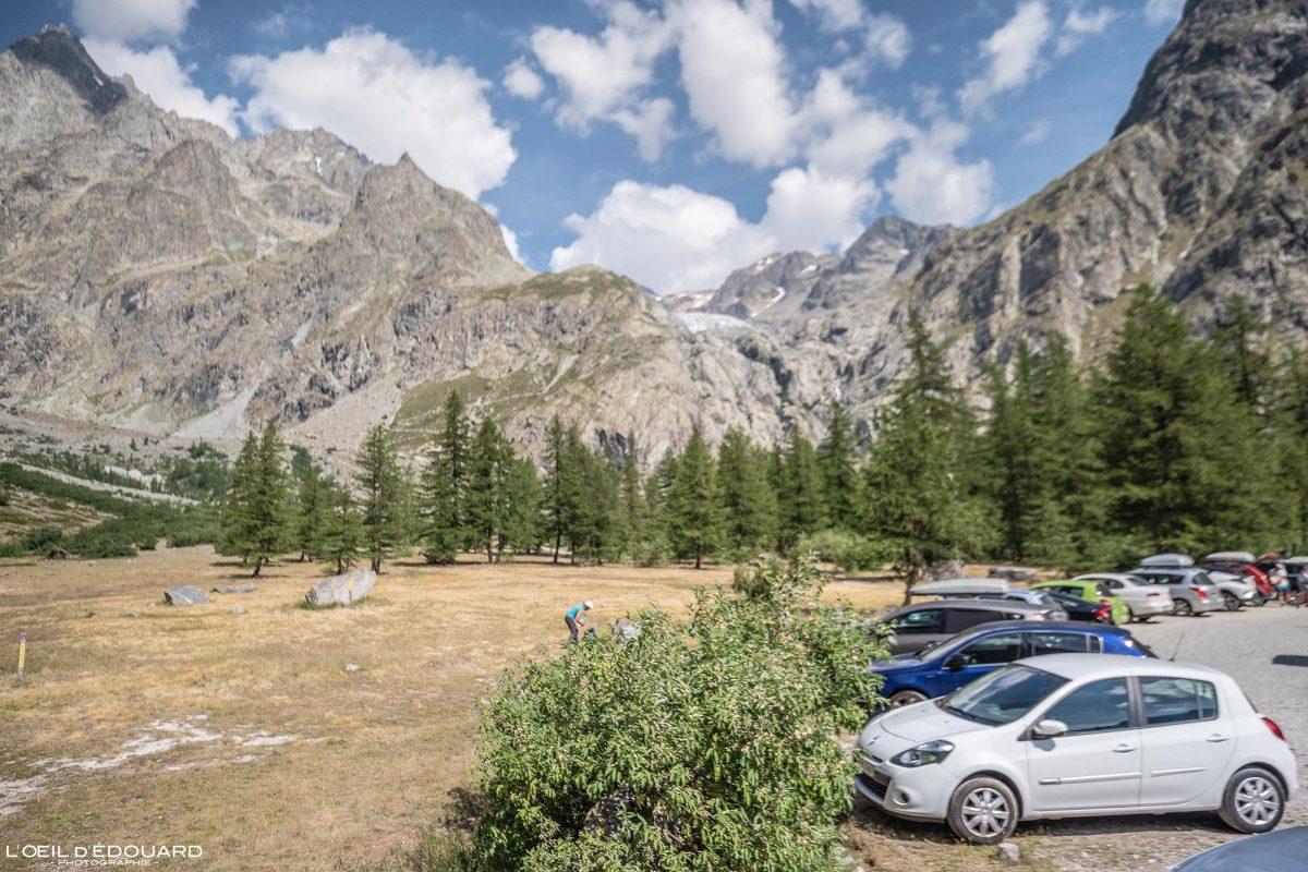 Parking Pré de Madame Carle Vallouise Pelvoux Massif des Écrins Hautes-Alpes France Montagne Paysage - Mountain Landscape French Alps Outdoor Hike Hiking
