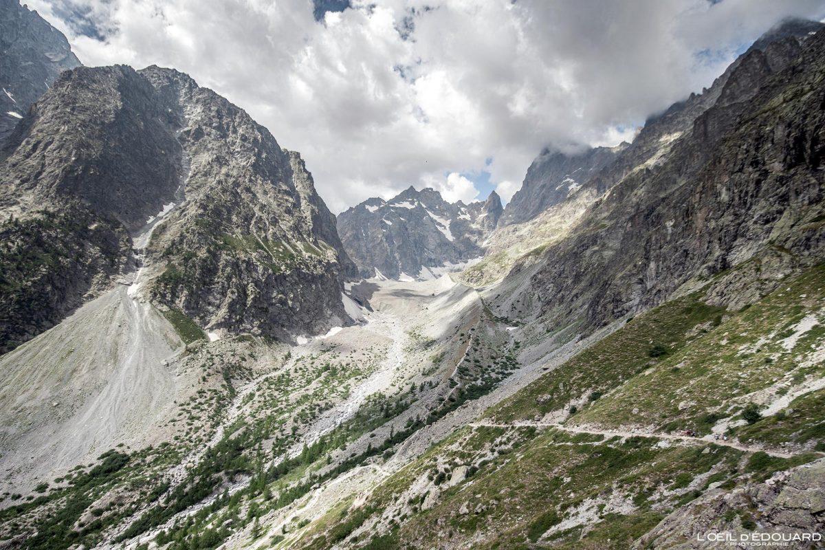 Vallon du Glacier Noir Randonnée Refuge du Glacier Blanc Massif des Écrins Hautes-Alpes France Montagne Paysage - Mountain Landscape French Alps Outdoor Hike Hiking