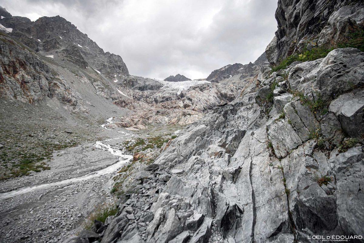 Chemin Randonnée Refuge du Glacier Blanc Massif des Écrins Hautes-Alpes France Montagne Paysage - Mountain Landscape French Alps Outdoor Hike Hiking