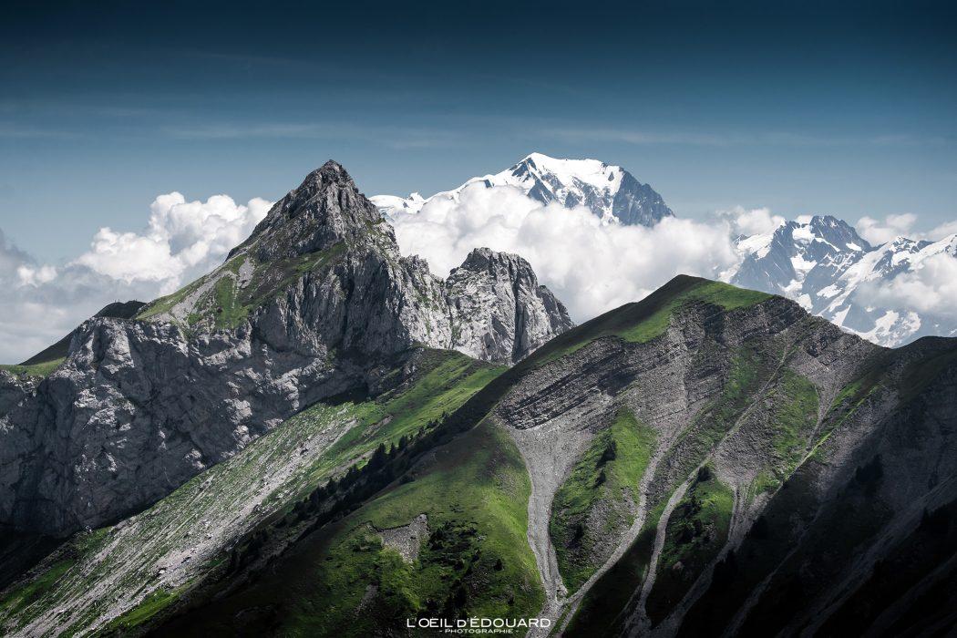 La Pointe la Sambuy, Chaurionde, le Mont Mont Blanc - Randonnée Arcalod Massif des Bauges Savoie Alpes France Paysage Montagne - Mountain Landscape French Alps Outdoor Hike Hiking