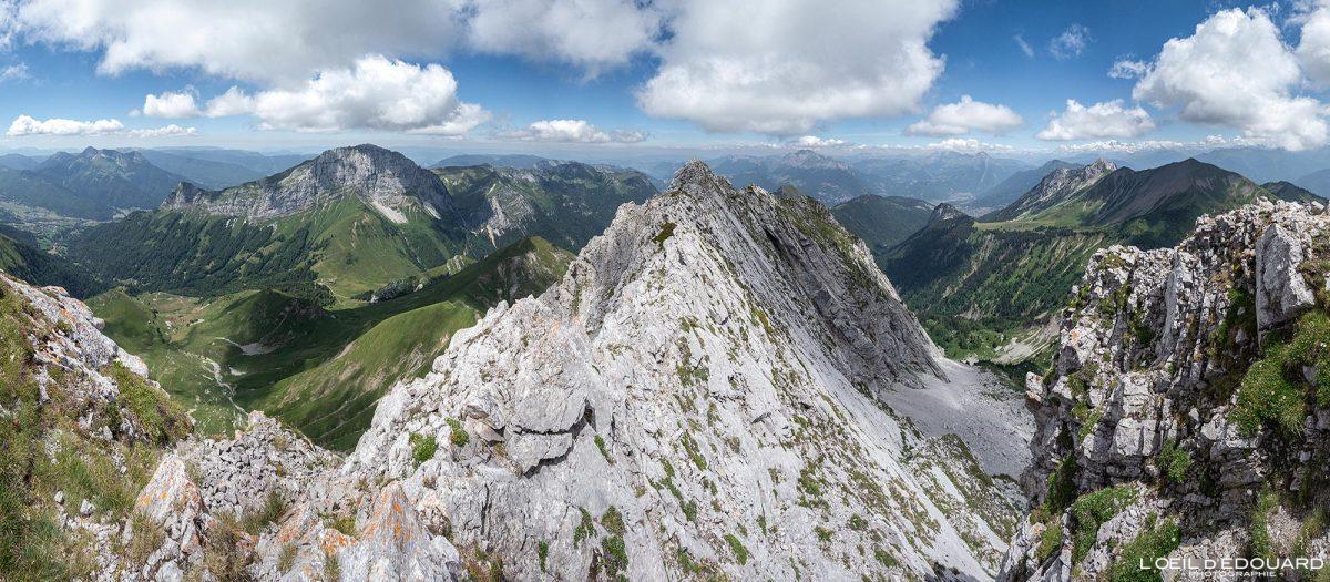 Arête Nord Arcalod sommet Massif des Bauges Savoie Alpes France Randonnée Montagne Paysage - Mountain Landscape French Alps Outdoor Hike Hiking