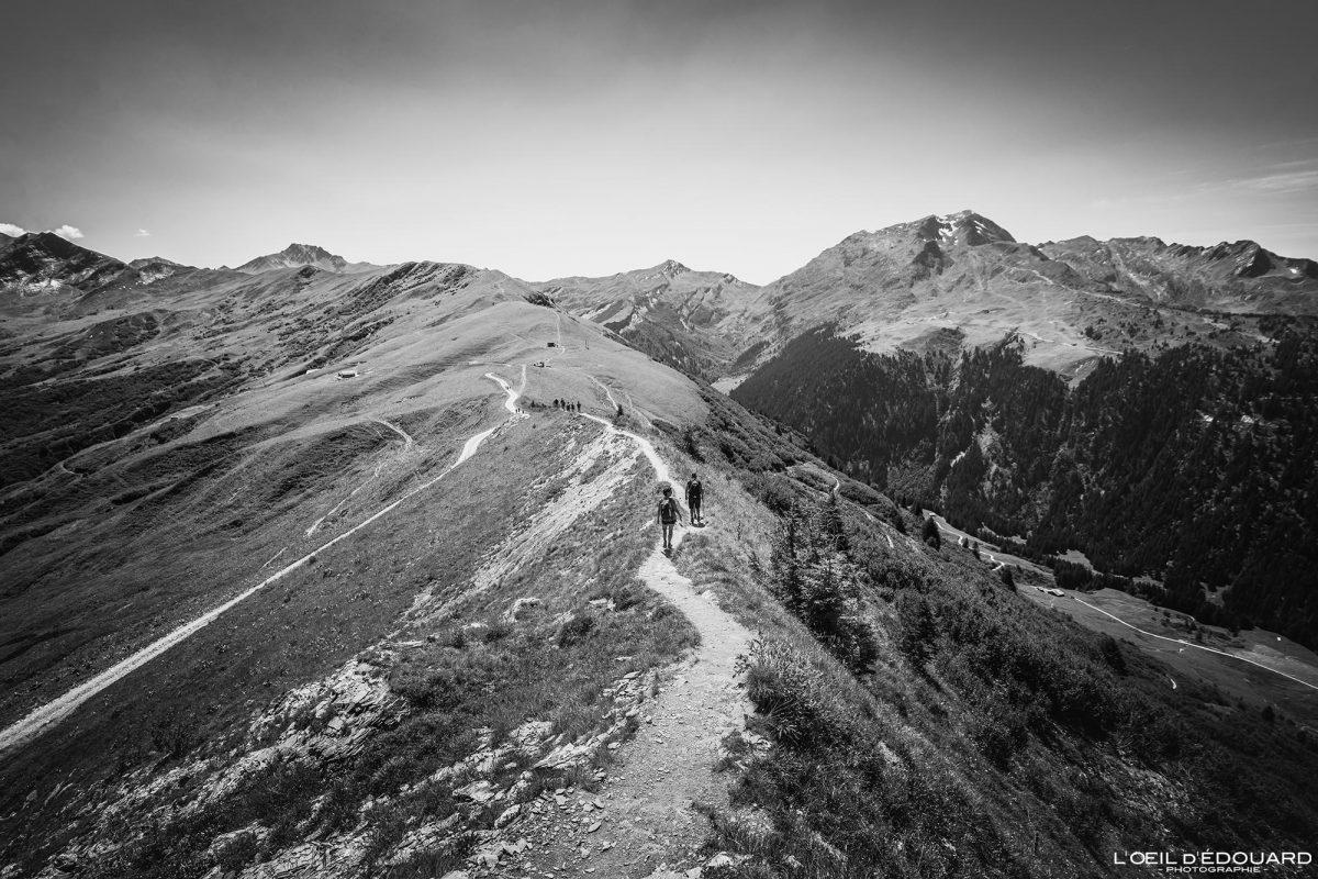 Sentier de crête Sommet de la Roche Parstire Massif du Beaufortain Randonnée Savoie Alpes France Paysage Montagne - Mountain Landscape French Alps Outdoor Hike Hiking