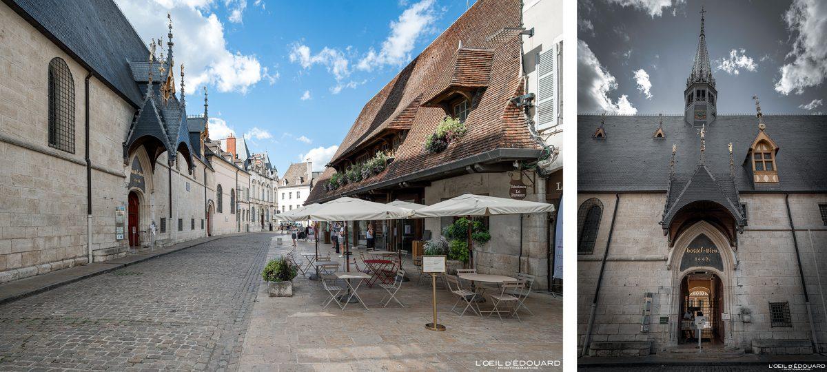 Entrée Hôtel-Dieu Hospices de Beaune Bourgogne France Architecture
