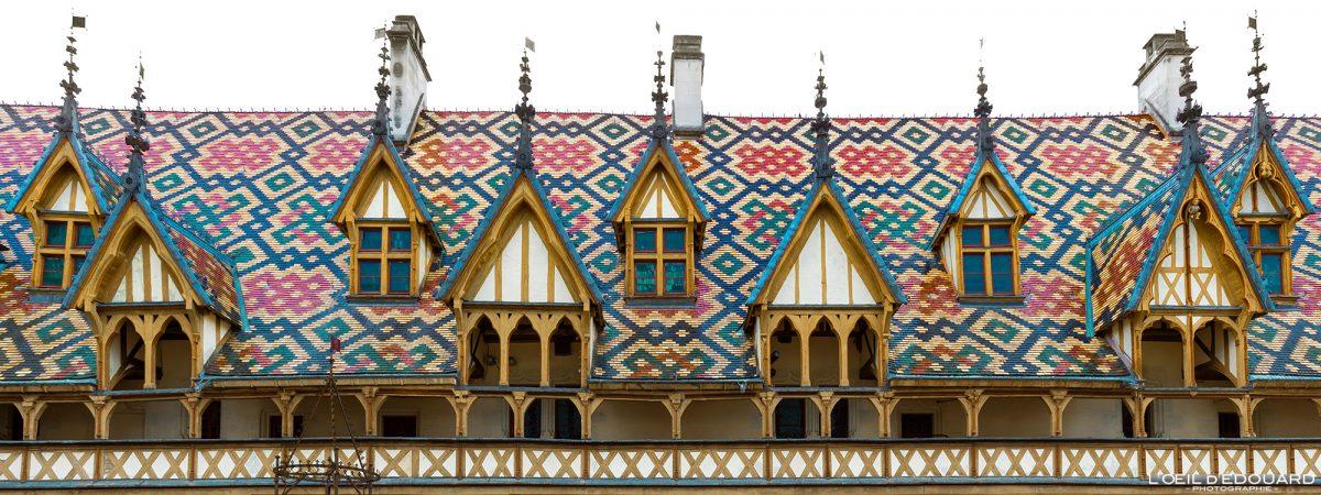 Hôtel-Dieu Toiture Hospices de Beaune Bourgogne France Architecture