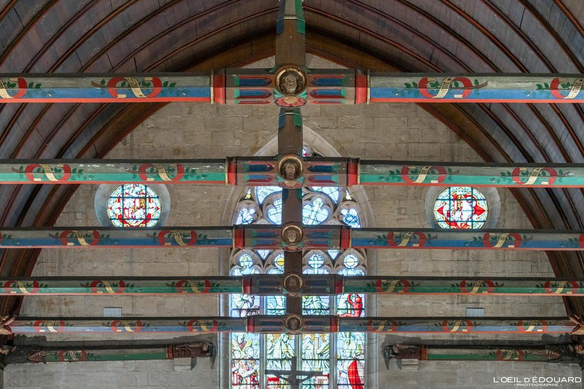 Poutres Charpente plafond Salle des Pôvres Hôtel-Dieu Hospices de Beaune Bourgogne France Architecture