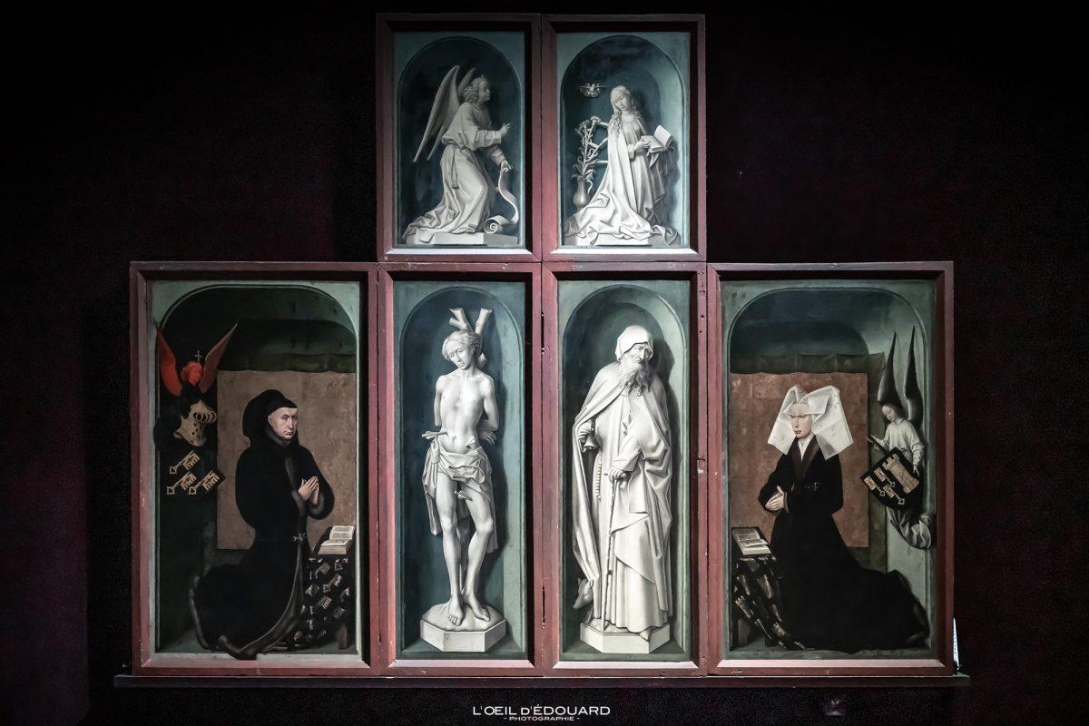 Retable polyptyque Le Jugement Dernier Rogier Van der Weyden Hospices de Beaune Bourgogne France - Peinture Renaissance Flamande Art painting