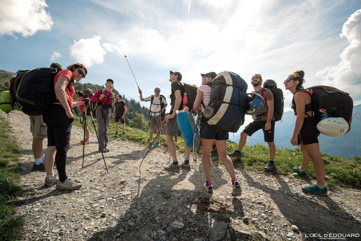 Stage formation rando-vol parapente École Carpe Diem Sulens Bornes-Aravis Haute-Savoie Alpes Montagne Outdoor French Alps Mountain Hiking Hike Paragliding fly paraglider