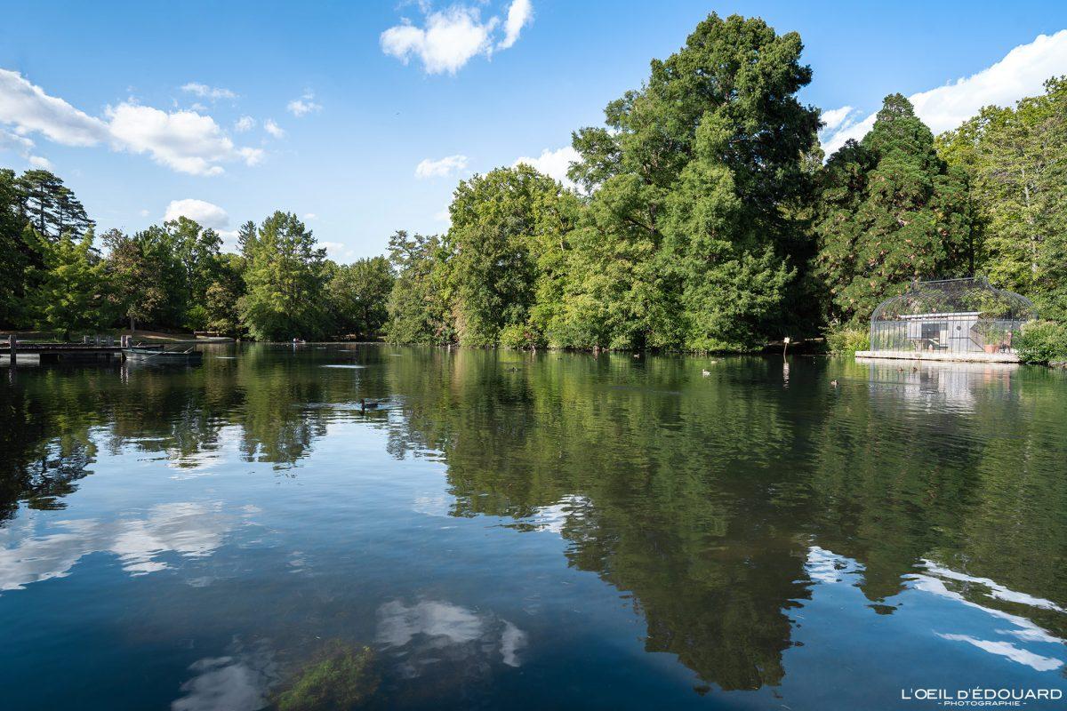 Lac Parc de la Bouzaize Beaune Bourgogne France - Garden Lake landscape forest