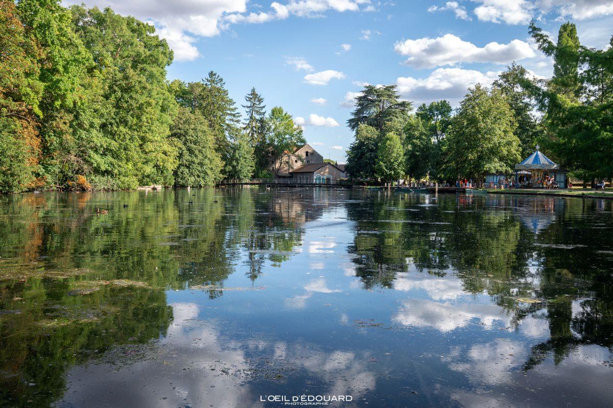 Lac Parc de la Bouzaize Beaune Bourgogne France - Garden Lake Landscape