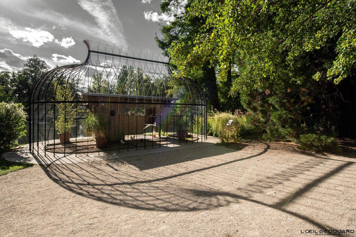 Cage volière Parc de la Bouzaize Beaune Bourgogne France