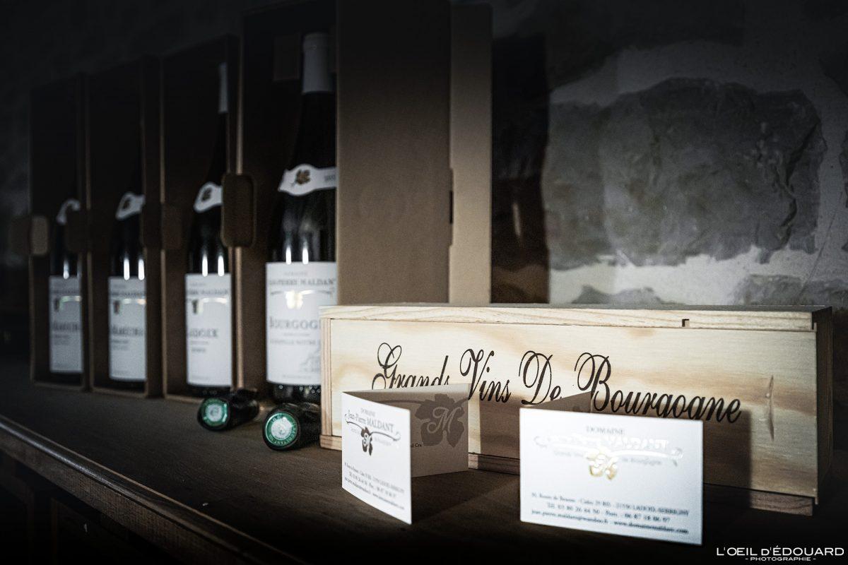 Bouteilles de vin Domaine Jean-Pierre Maldant Maldant Ladoix-Serrigny France Burgundy French Wine bottles