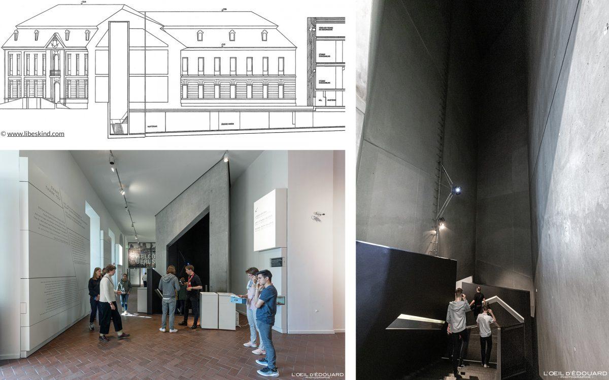 Tour entrée Kollegienhaus Musée Juif de Berlin Allemagne - Entrance Tower Jüdisches Museum Deutschland Germany Jewish Architecture Daniel Libeskind