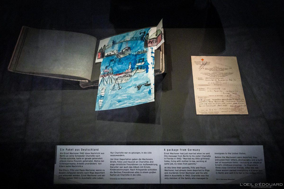 Objet Carnet dessin - exposition collection Musée Juif de Berlin Allemagne - Notebook Sketchbook Jüdisches Museum Deutschland Germany Jewish Museum Exhibition