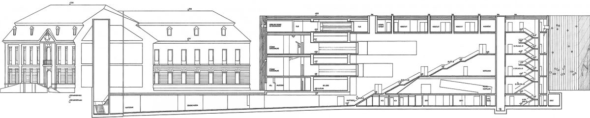 Plan Architecture Musée Juif de Berlin Allemagne - Jüdisches Museum, Deutschland Germany Jewish Museum Daniel Libeskind ©