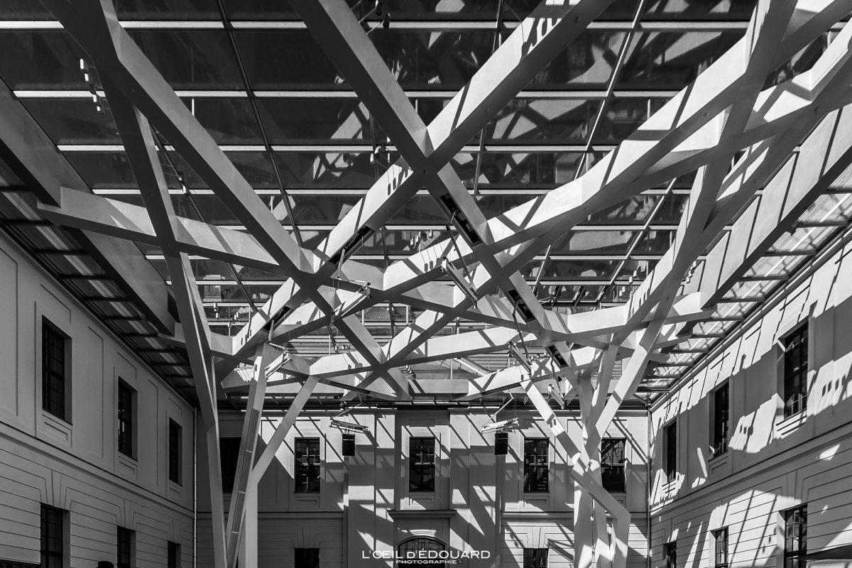 Verrière Hall Kollegienhaus Musée Juif de Berlin Allemagne - Glashof Jüdisches Museum Deutschland Germany Jewish Museum Architecture Daniel Libeskind