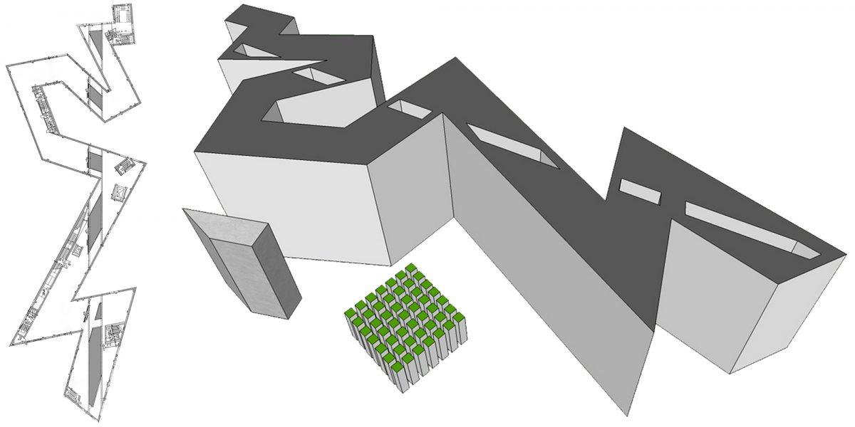 Plan les Vides Architecture Musée Juif de Berlin Allemagne - Jüdisches Museum Deutschland Germany Jewish Museum The Voids Architecture Daniel Libeskind ©