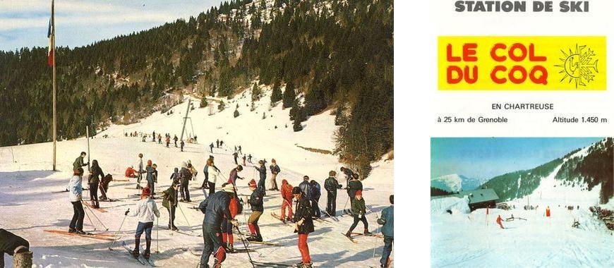 Ancienne station de ski Col du Coq Massif de la Chartreuse Isère Alpes France - Sports d'hiver Montagne neige Outdoor French Alps Mountain skiing winter
