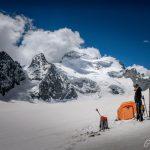 Bivouac sur le Glacier Blanc, au pied de la Barre des Écrins Hautes-Alpes Alpinisme Paysage Montagne neige France Outdoor French Alps Mountain Landscape snow Mountaineering