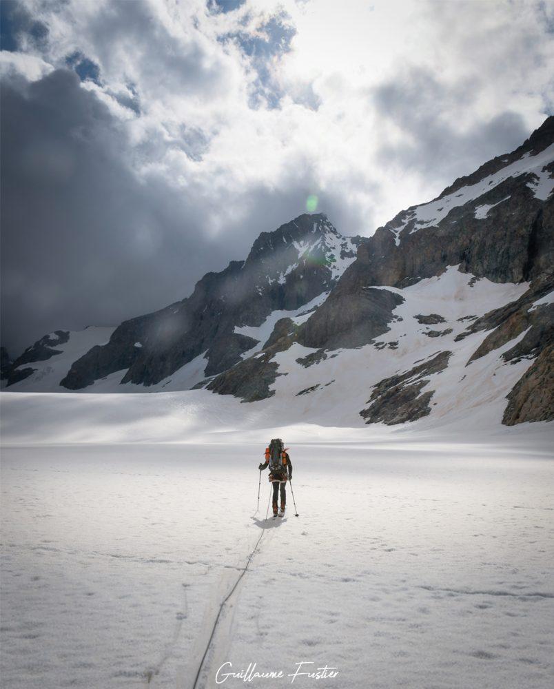 Ski de randonnée Glacier Blanc Hautes-Alpes Paysage Montagne neige France Outdoor French Alps Mountain Landscape snow skiing ski touring