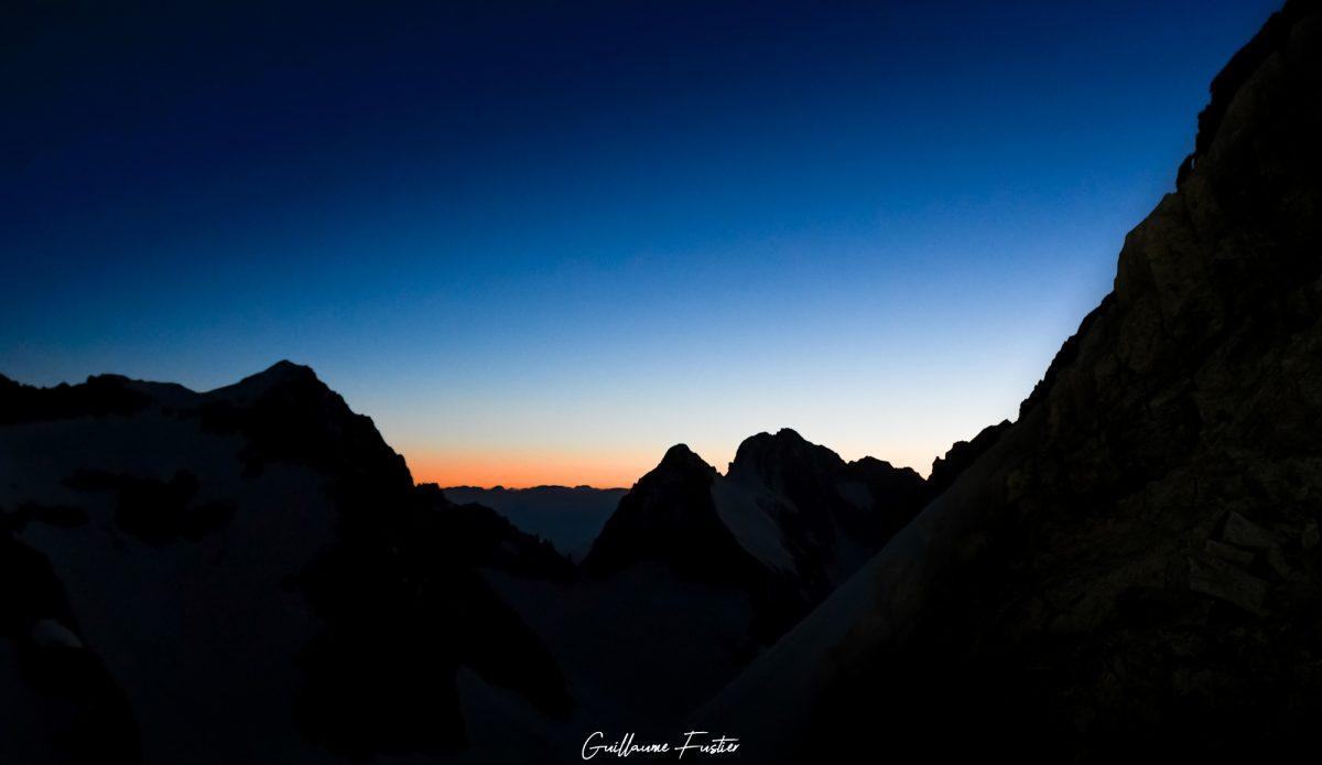 Ciel Lever de soleil Massif des Écrins Hautes-Alpes Paysage Montagne France Outdoor French Alps Mountain Landscape morning sunset sky