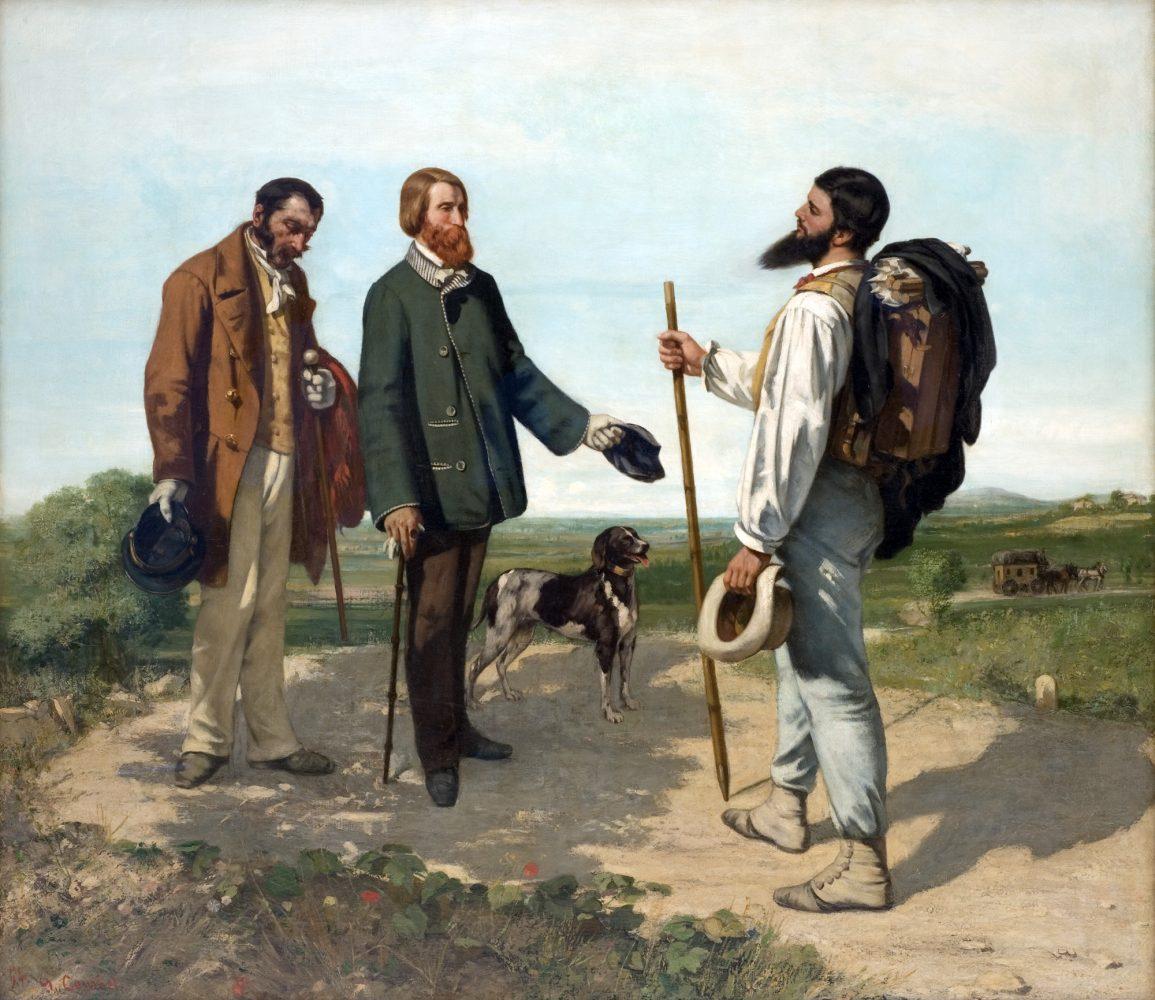 Bonjour Monsieur Courbet (1854) Gustave COURBET - Musée Fabre, Montpellier - peinture art painting