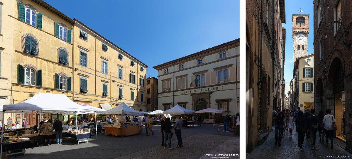 Rue de Lucques Toscane Italie Voyage Tourisme - Via di Lucca Toscana Italia Travel Italy Tuscany streets