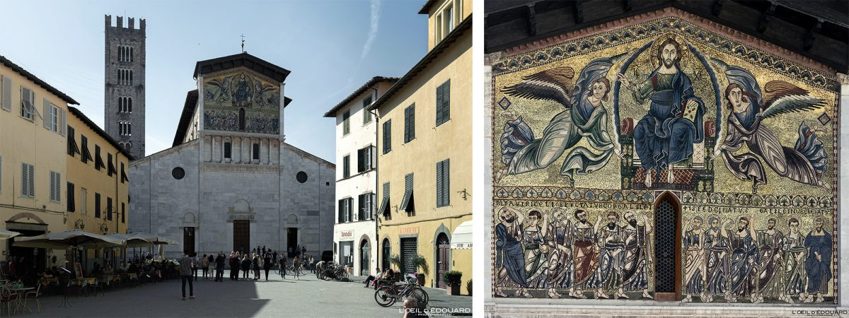 Mosaïque Basilique de Lucques Toscane Italie Voyage Tourisme - Basilica di San Frediano Lucca Toscana Italia Travel Italy Tuscany Italian church architecture