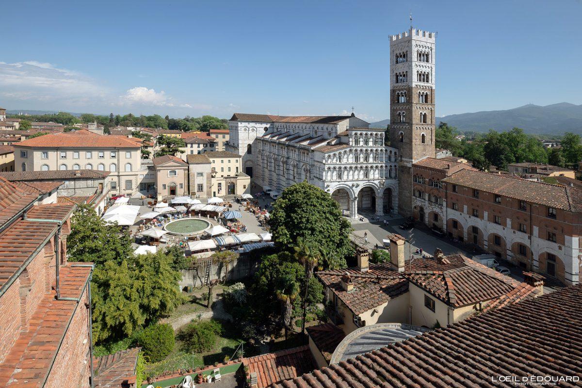 Cathédrale Saint-Martin de Lucques Toscane Italie Voyage Tourisme - Cattedrale Duomo di San Martino Lucca Toscana Italia Travel Italy Tuscany Italian church architecture