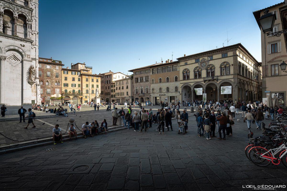 Lucques Toscane Italie Voyage Tourisme - Piazza San Michele Lucca Toscana Italia Travel Italy Tuscany Italian place